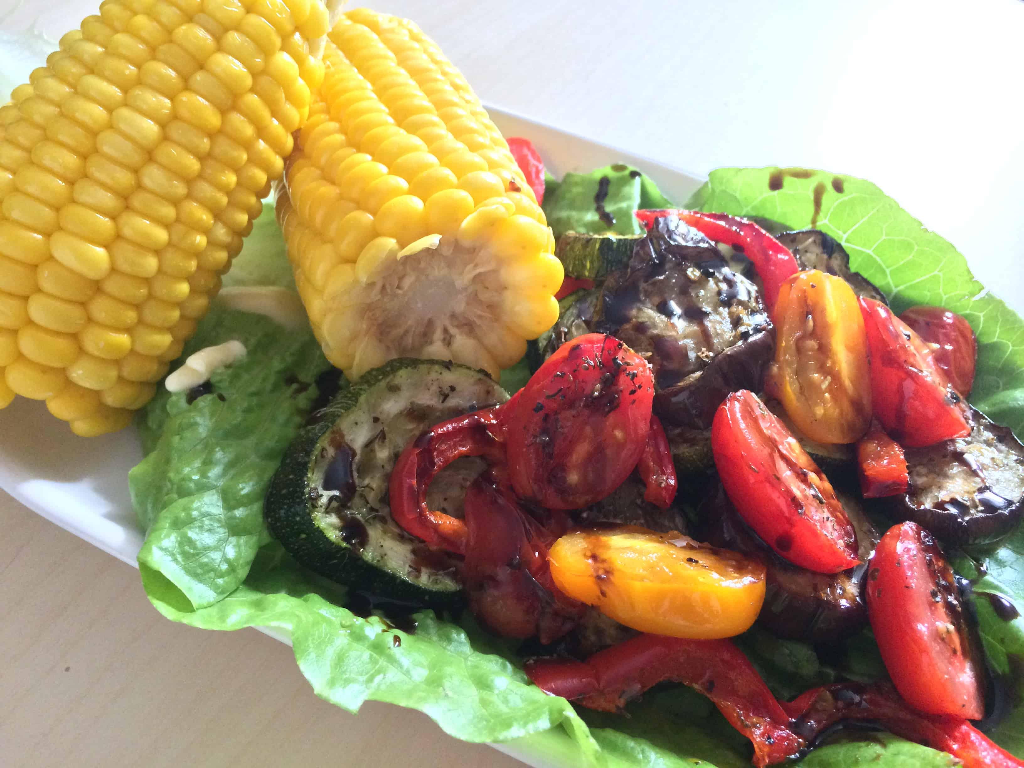 Kukurydza z warzywami