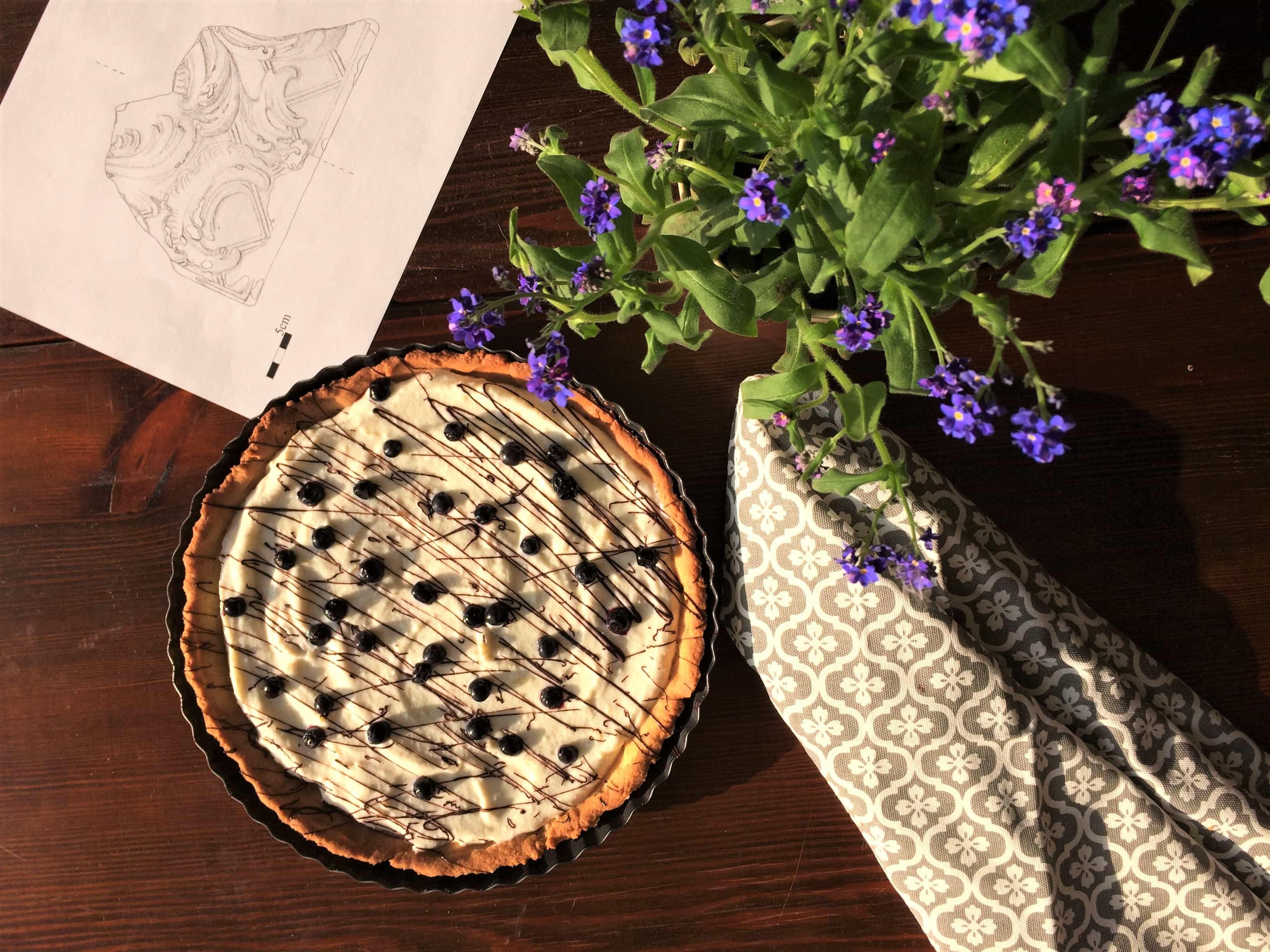 Ricotta and blueberries tart
