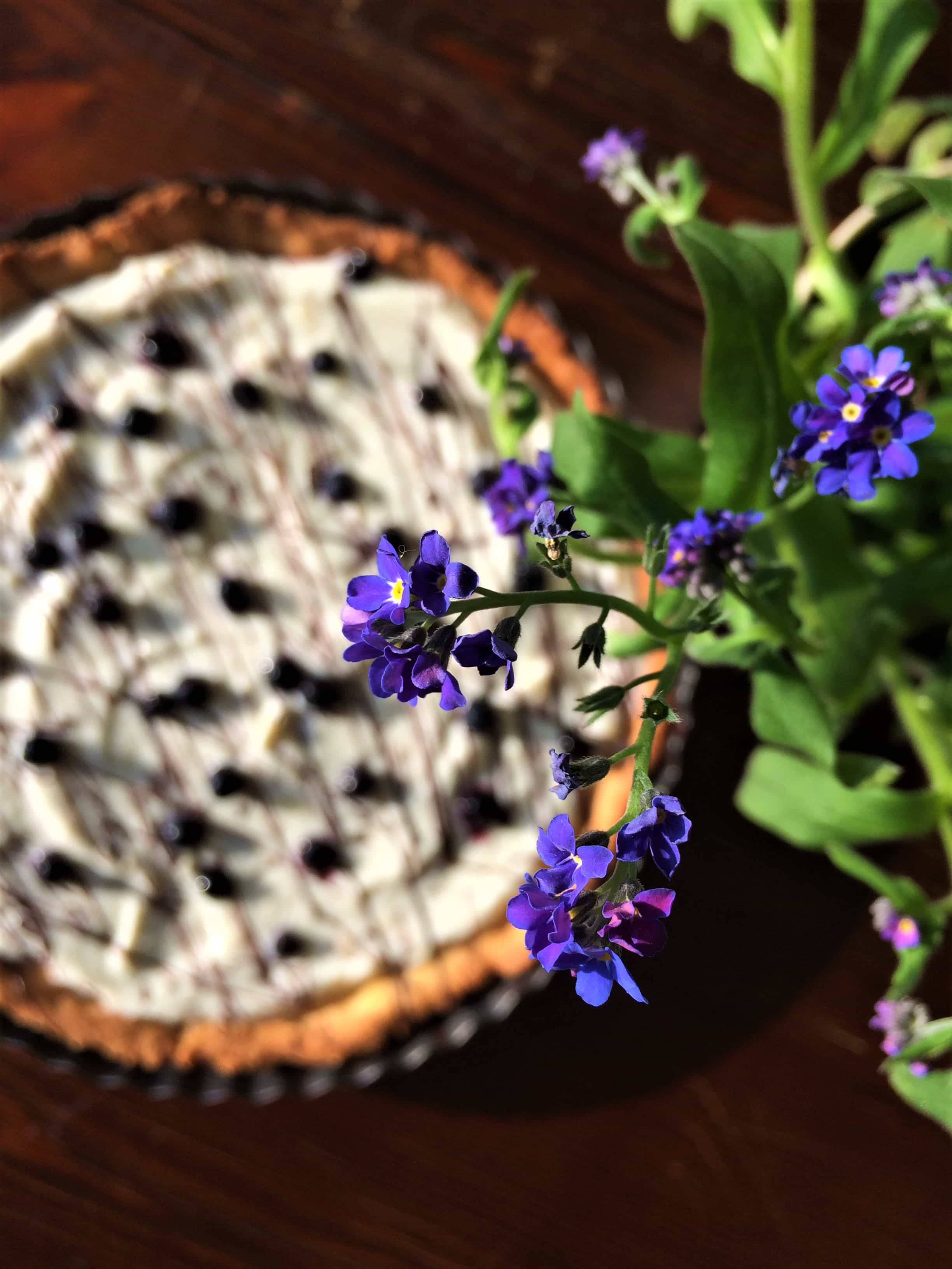 Ricotta and blueberries tart