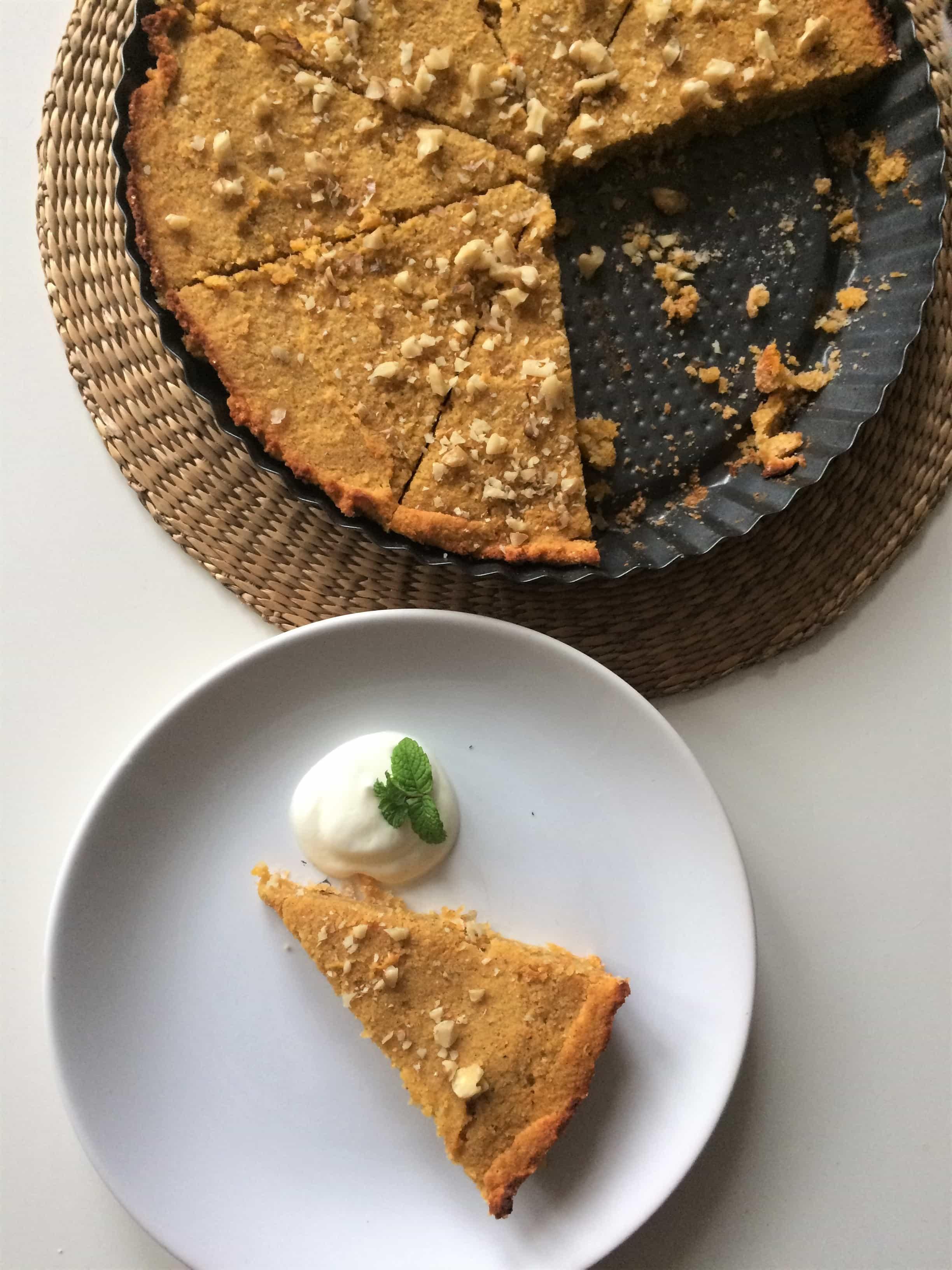 Ciasto dyniowe z mąką kokosową