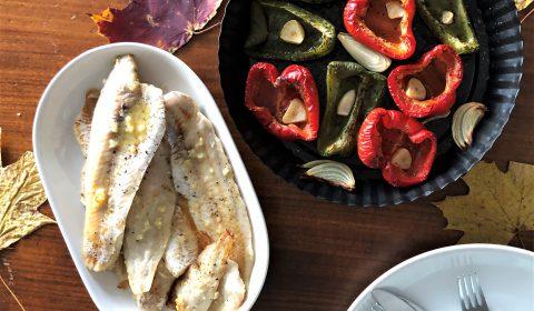Morszczuk i papryka z pieca